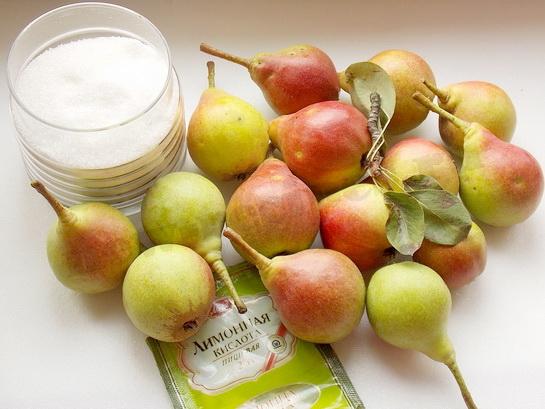 ингредиенты для компота из груш на зиму