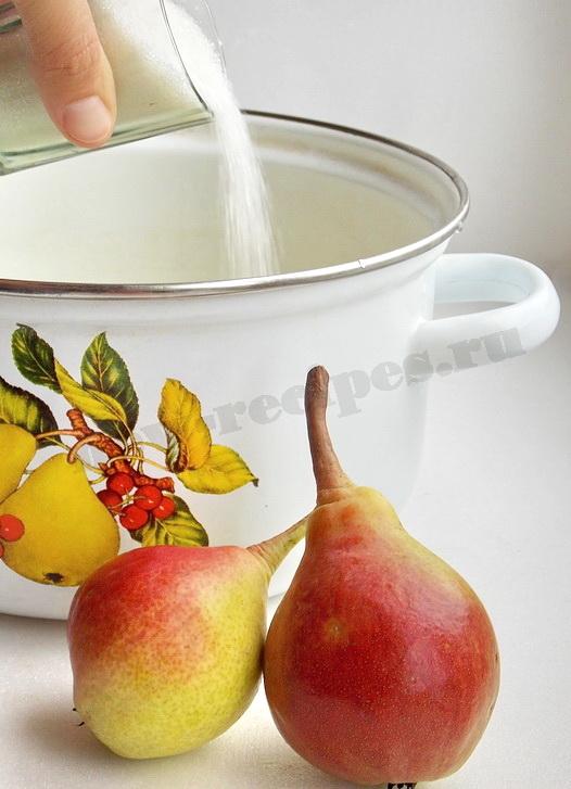 готовим сироп для компота из груш