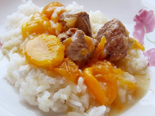 оригинальное мясное блюдо рецепт с абрикосами