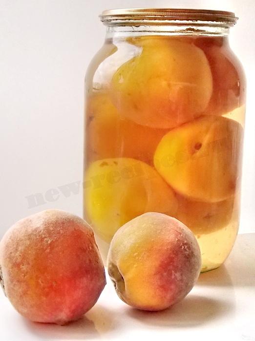 компот из персиков на зиму рецепт