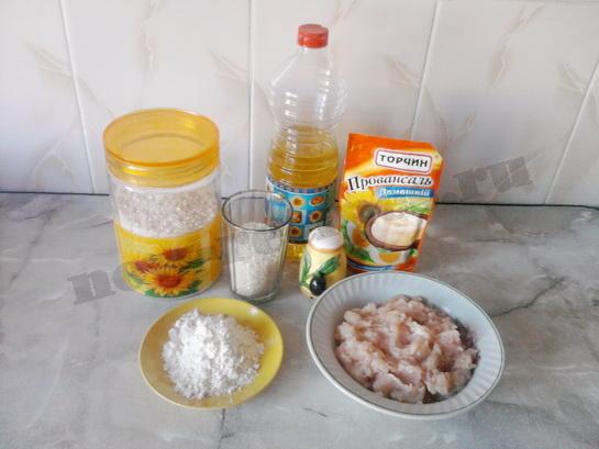 ингредиенты для куриных котлет из фарша