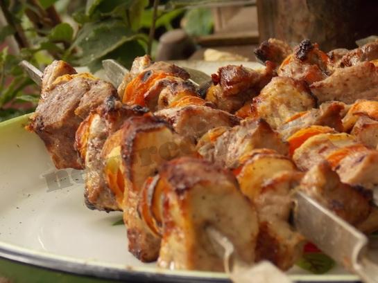 красивый и вкусный шашлык с абрикосами