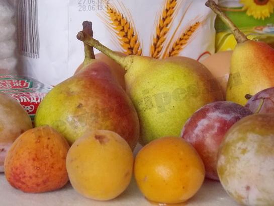 ингредиенты для пирожков с фруктами