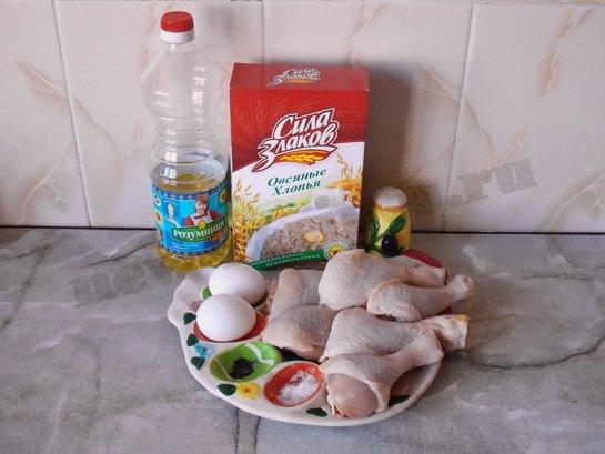 ингредиенты для куриных ножек в духовке
