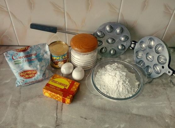 ингредиенты для печенья орешки