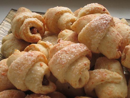 Рогалики с орехом рецепт с фото