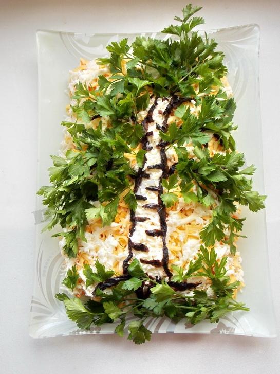 салат берёза готов!