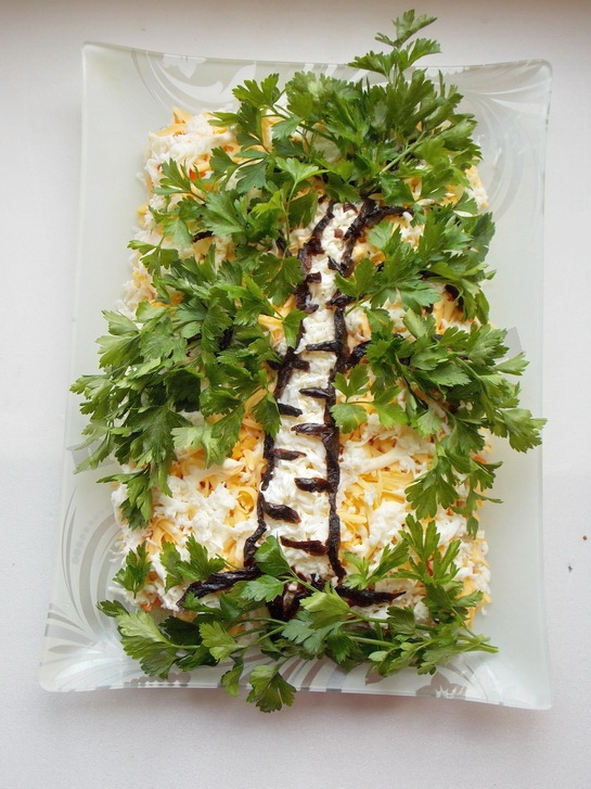 салат берёза рецепт с фото
