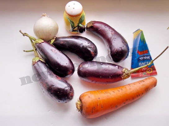 ингредиенты для соте из баклажанов