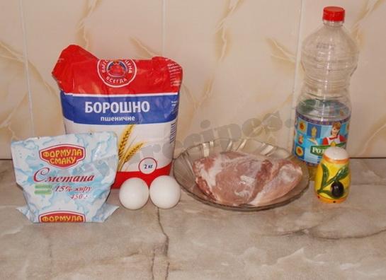 ингредиенты для свиных отбивных в кляре