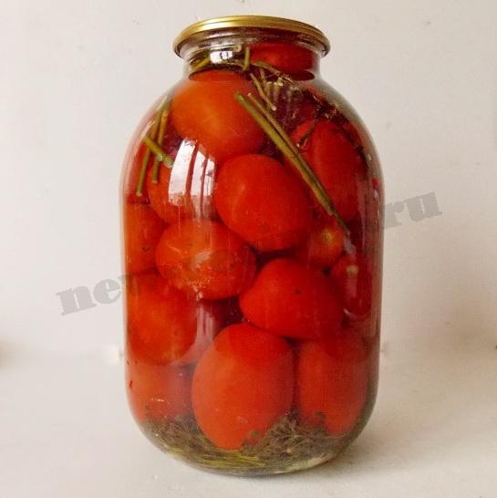 вкусные маринованные помидоры на зиму готовы!