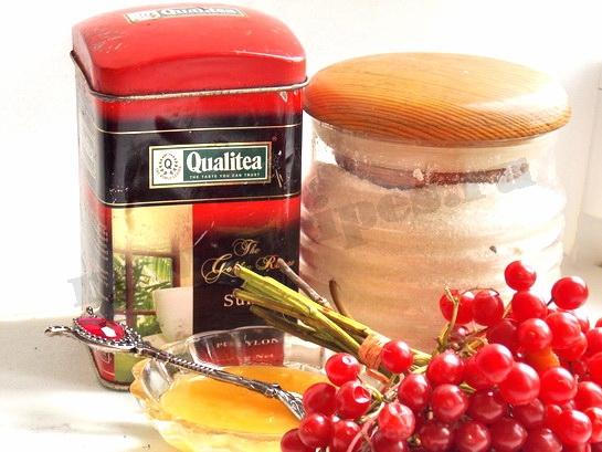 ингредиенты для чая с калиной