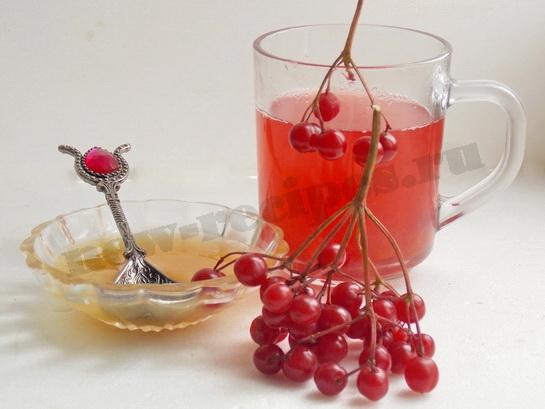 чай с калиной готов