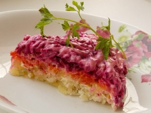 овощной торт салат