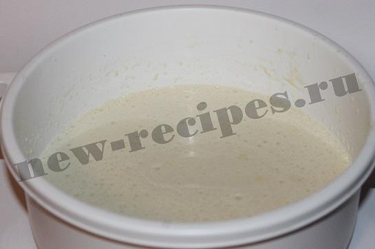 Блины на молоке с ананасами 3