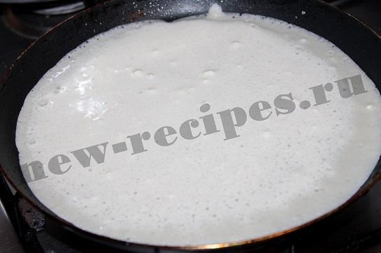 Блины на молоке с ананасами 5