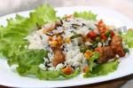 Дикий рис с мясом и овощами 7