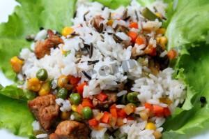 Дикий рис с мясом и овощами 9