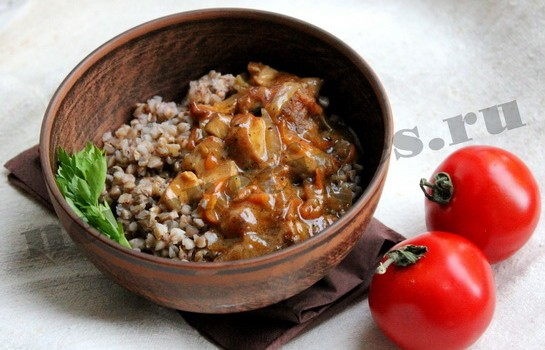 Гречневая каша с мясом и овощами 9