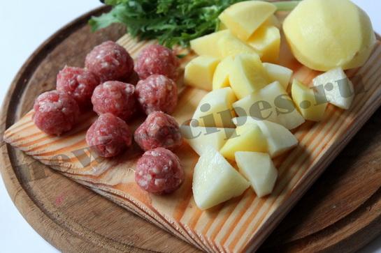 Легкий овощной суп с фрикадельками 2