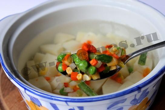 Легкий овощной суп с фрикадельками 3