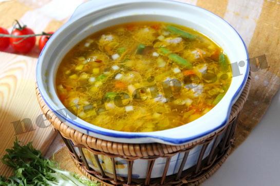 Легкий овощной суп с фрикадельками 8
