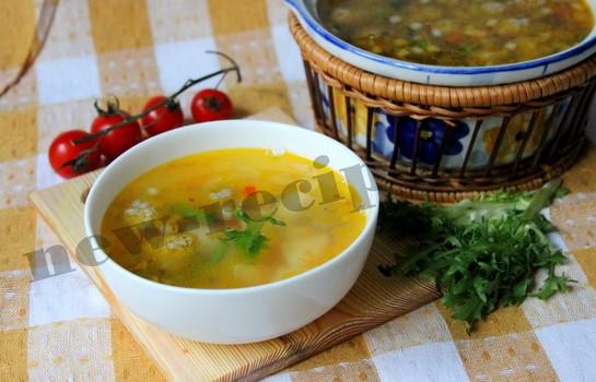 Легкий овощной суп с фрикадельками 9