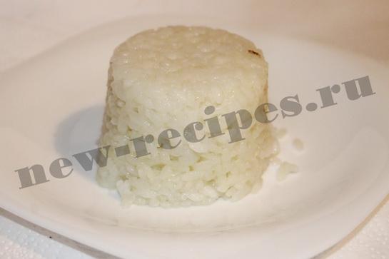 Рис с подливкой из куриного рулета 10