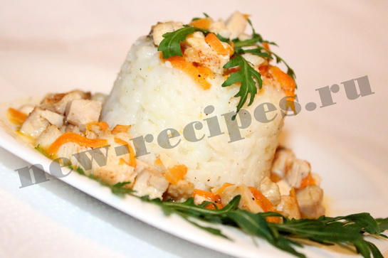 Рис с подливкой из куриного рулета 13