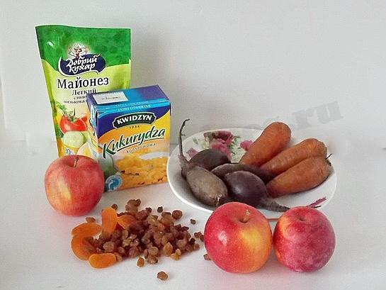 ингредиенты для салата подкова