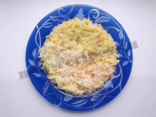 1 слой - картофель