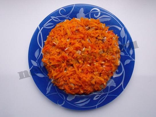 5 слой - тёртая морковка