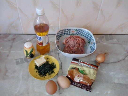 ингредиенты для котлет по киевски