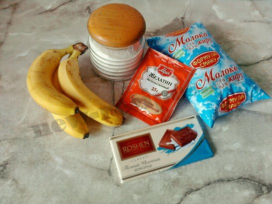 ингредиенты для молочного желе