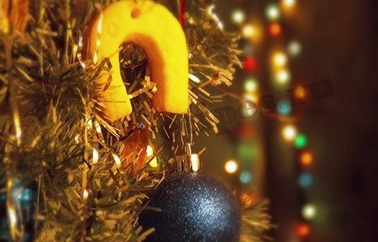 новогоднее печенье подкова на Год Лошади