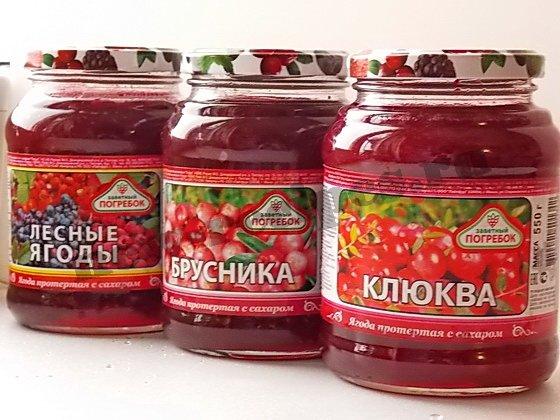 ягоды протёртые с сахаром