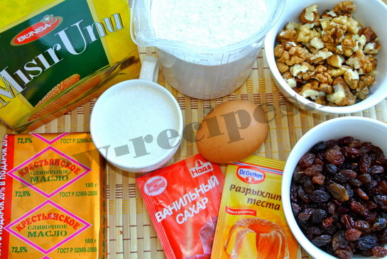 Ингредиенты для печенья бискотти