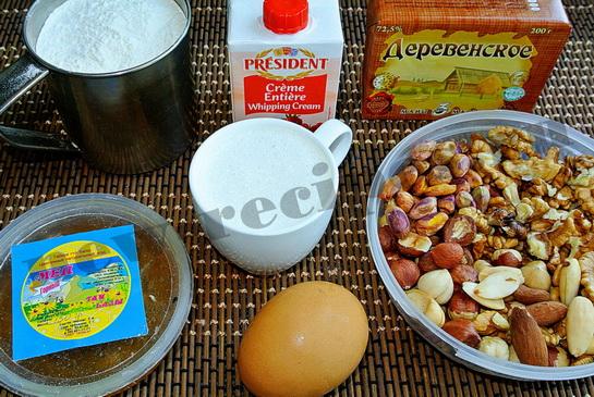 Ингредиенты для тарта