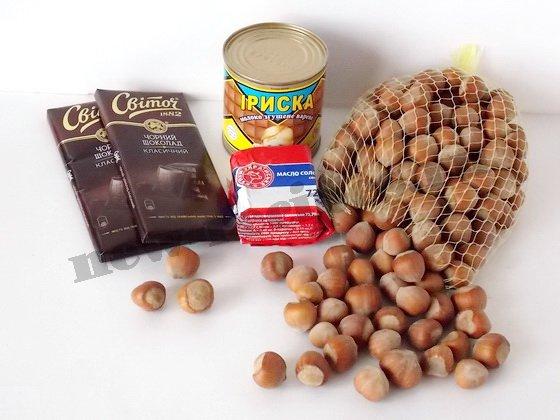 ингредиенты для домашних шоколадных конфет
