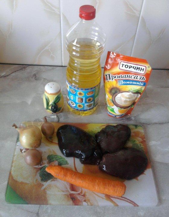 ингредиенты для подливы с печенью