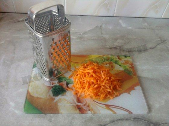 морковку трём на тёрке