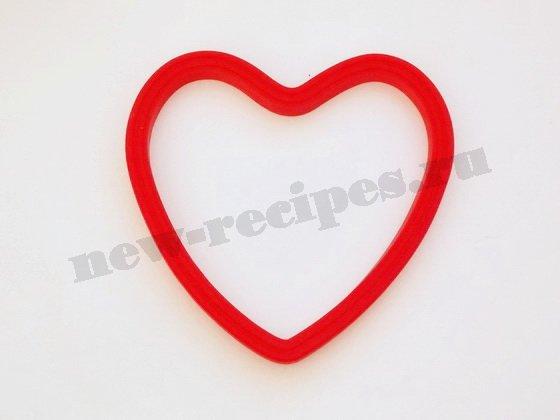 силиконовая форма сердечко для яичницы
