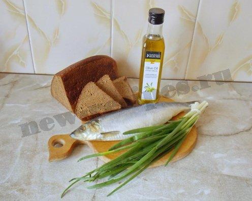 ингредиенты для бутербродов с селёдкой