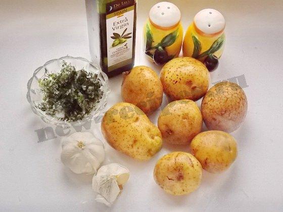 ингредиенты для картошки гармошки