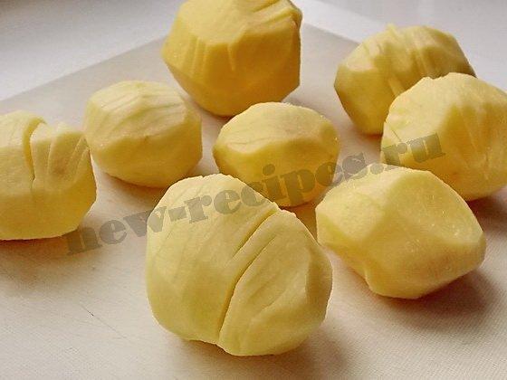 как сделать картошку гармошку