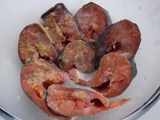 красная рыба на гриле (2)