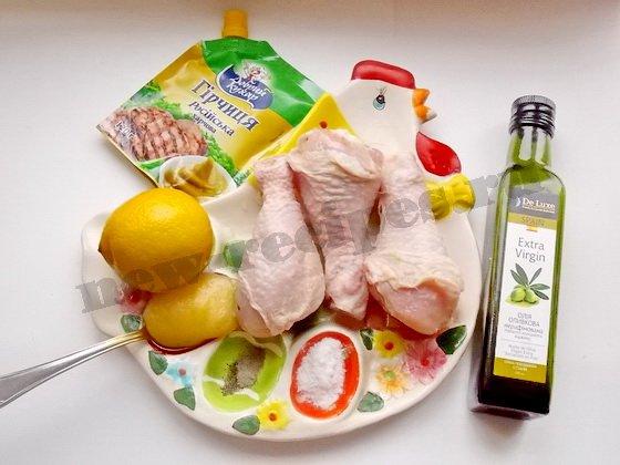 куриные ножки на сковороде гриль ингредиенты