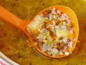 Вкусный, сытный, аппетитный суп из смеси бобовых