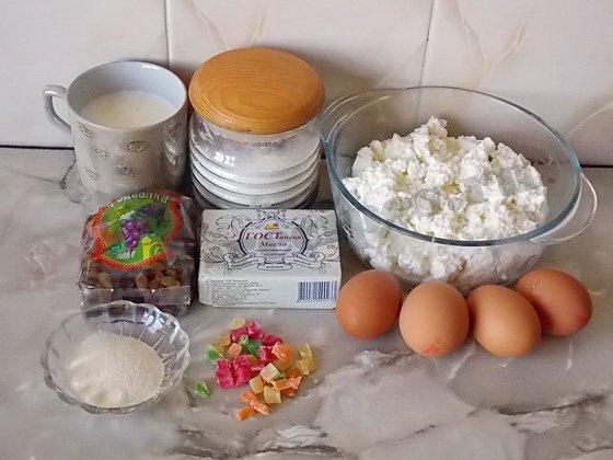 ингредиенты для творожной пасхи печеной