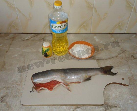 ингредиенты для жареной красной рыбы